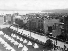 Granville Street, Vancouver [looking northeast from the first Hotel Vancouver]
