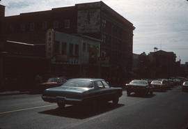 Automobiles on street in Chinatown, Vancouver