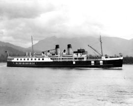 "[S.S. ""Lady Alexandra"" approaching Vancouver]"