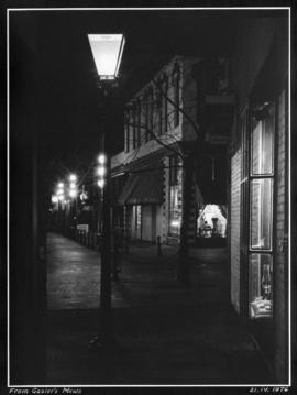 [View of Gastown street at night] from Gaoler's Mews