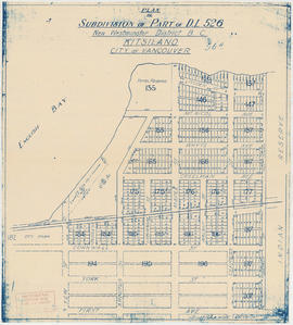 Plan of subdivision of part of D.L. 526, New Westminster District, B.C., Kitsilano, City of Vanco...