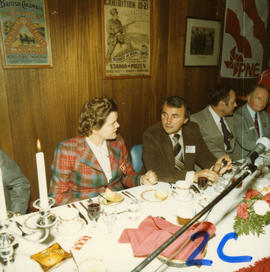 Bernice Gerard and George Puil at 1978 P.N.E. meeting and banquet