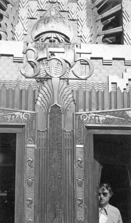 [Detail of Marine Building entrance]