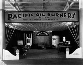 Pacific Oil Burners display of home heating systems