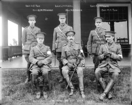 [6 officers, Cavalry Division V.V.R. (with names)]