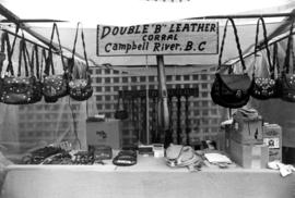 "Double ""B"" Leather Corral display of leather goods"