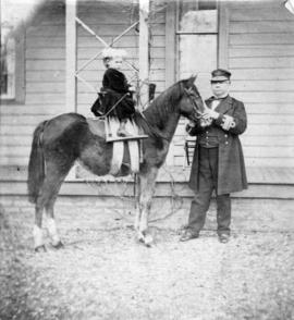 Admiral Hastings and Hans [Hastings] [a pony named] Pussy