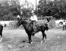 Rodeo 1931 : [A.D. 'Cowboy' Kean on horseback]