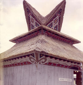 "Exterior of the Republic of Indonesia building, one of the 1959 P.N.E. ""Salute to the Orient..."