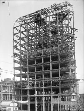 [Partially constructed Dominion Trust building, northwest corner of Cambie and Hastings Streets]