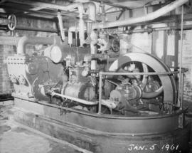 "Old pan house, vacuum pumps; ""D"" pump Mirrlees Watson, ""B"" pump Mirrlees Wats..."