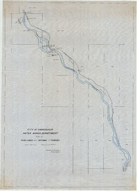 Plan of pipe lines from intake to tunnel