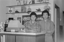 Owners of the café that once belonged to Gordon Yee in Naicam, Saskatchewan