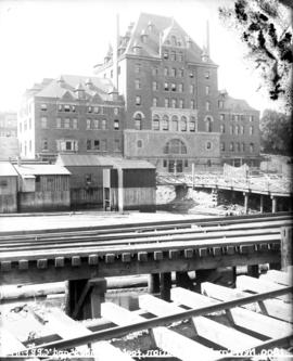 "North facade of ""new"" C.P.R. Station building at foot of Granville Street"
