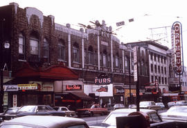 [View of the 800 block Granville Street, Theatre Row]