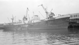 "M.S. Huntsmore [at dock, at Pier ""B""]"