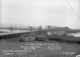 Provincial Government Bridge - Pitt River Commenced Construction June 9, 1914 - open for traffic ...
