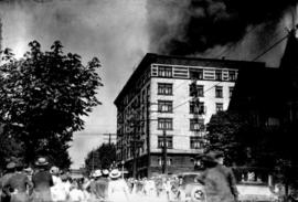 Royal Alexandra apartment fire, 1086 Bute at Comox, nine persons died in the fire