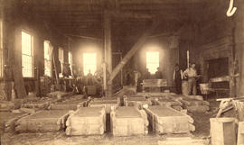 [Interior of City Foundry and Machine works at the foot of Hawks Ave.]