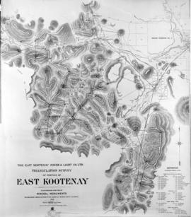 The East Kootenay Power and Light Co. Ltd. Triangulation survey of portions of East Kootenay. Pla...