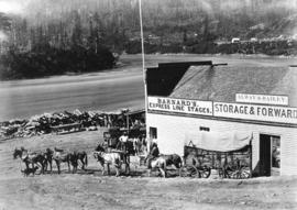 Mule Train at Yale starting for the Cariboo