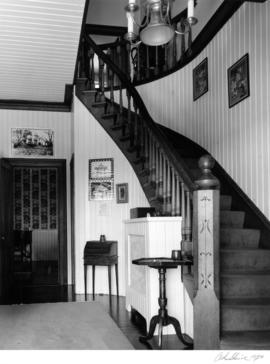 Fitzgerald McCleery house (2610 Southwest Marine Drive), interior details and stair case