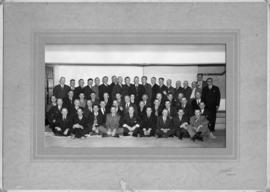Group photograph of Raymond sugar factory employees