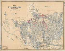 Map of City of Vancouver. British Columbia