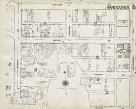 Plan of Vancouver, 1889 [fire map] : [Westminster Avenue to Hastings Street to Carrall Street to ...