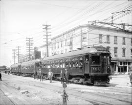 [B.C. Electric Railway Company Fraser Valley Railway line cars]