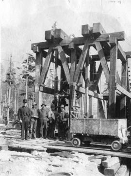 Head works of construction shaft No. 1 on hydraulic tunnel from Lake Buntzen to serve No. 2 power...