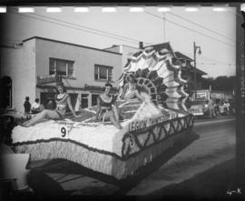 Legion Thunderbird Room float in 1957 P.N.E. Opening Day Parade