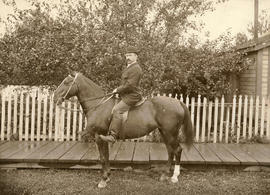 Archie Noble [on horse]