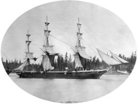 "H.M. Ship ""Chanticleer"" [in Esquimalt harbour, Vancouver Island]"