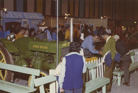 "John Deere tractor in 1971 P.N.E. ""Centennial City - Acres of Food"" exhibit, P.N.E. Forum"
