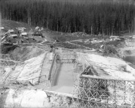 Panorama of dam site taken from co-ord. 2800.0 on 30th May 1913