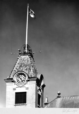 R.C.M.P. [Royal Canadian Mounted Police] Building, Main Street, clock tower detail
