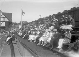 Spectators in stands