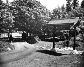 [Entrance to grounds at Whytecliff Park]