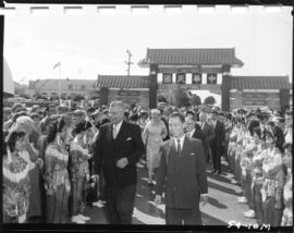 Canadian Prime Minister J.G. Diefenbaker at Taiwanese exhibit on P.N.E. grounds