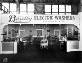 Beatty Bros. display of electric washing machines