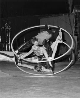 German ring act in Moscow Circus performance