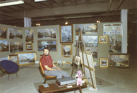 John Greco display of art, 1971 P.N.E. World of Art show