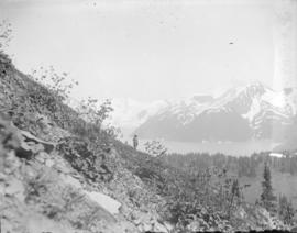 [View of Garibaldi Lake, Panorama Ridge, Table Mountain, Mount Clinker and Mount Garibaldi]