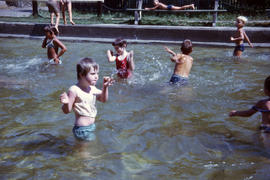 Children in wading pool