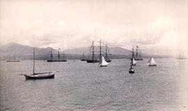 Vessels in Harbor at Vancouver, B.C. July 1st 1889