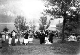 Picnic of the graduating class of the Vancouver General Hospital [at Orlomah Beach] : Dancing on ...