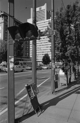 Burrard Street [at the 900 block of Robson Street]