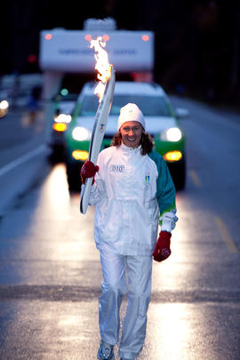 Day 004, torchbearer no. 010, Angela Plamondon - Qualicum Beach