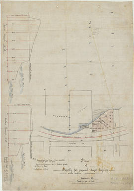 Plan of property for proposed sugar refinery with outside soundings